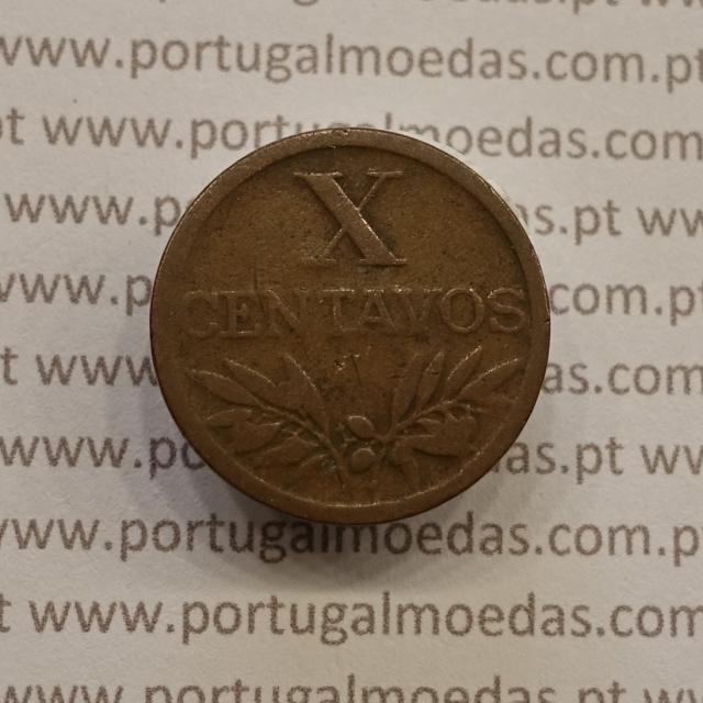 MOEDA DE DEZ CENTAVOS (X CENTAVOS) BRONZE 1950 BC