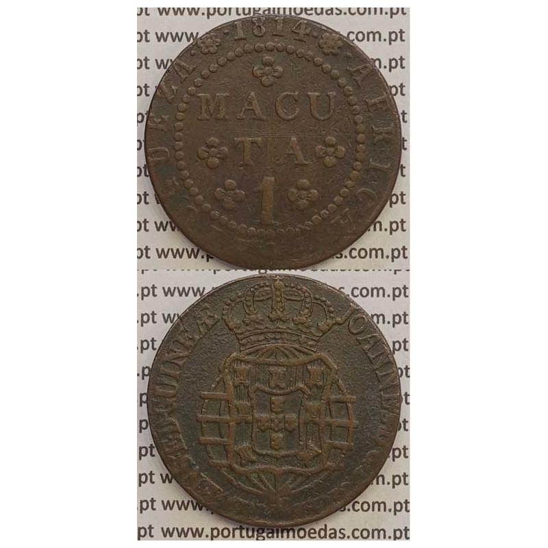 MOEDA 1 MACUTA COBRE 1814 (MBC) ANGOLA