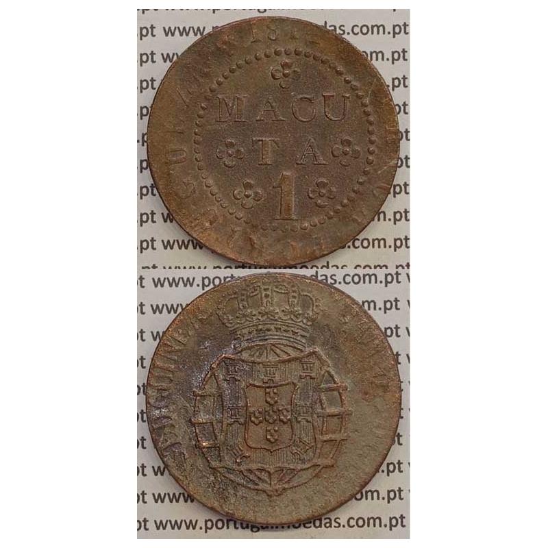MOEDA 1 MACUTA COBRE 1814 (MBC-) ANGOLA