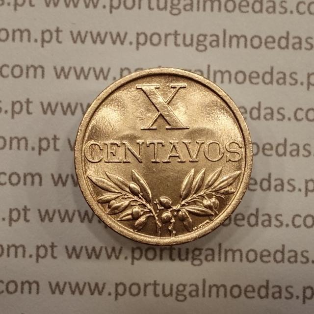 MOEDA DE DEZ CENTAVOS (X CENTAVOS) BRONZE 1963 SOBERBA