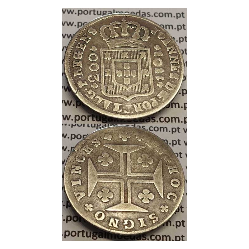 MOEDA DE 12 VINTÉNS PRATA (240 RÉIS) 1808 (BC)