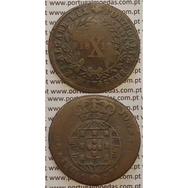 MOEDA X REIS COBRE 1819 (BC)
