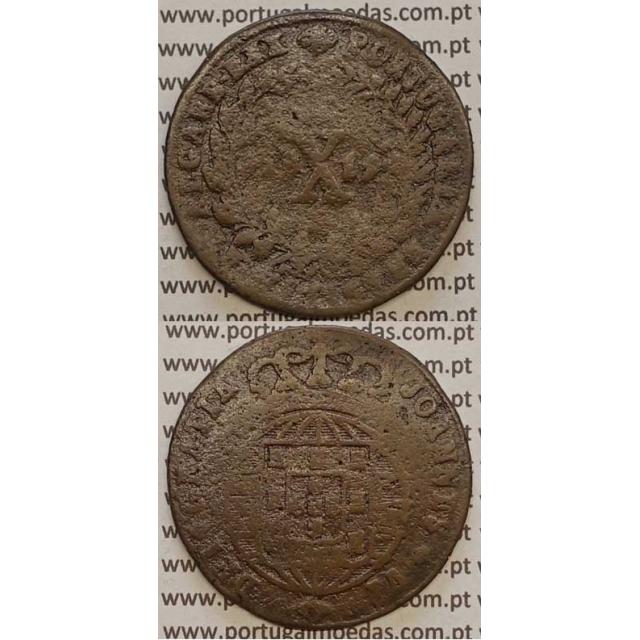 MOEDA X REIS COBRE 1819 (REG)