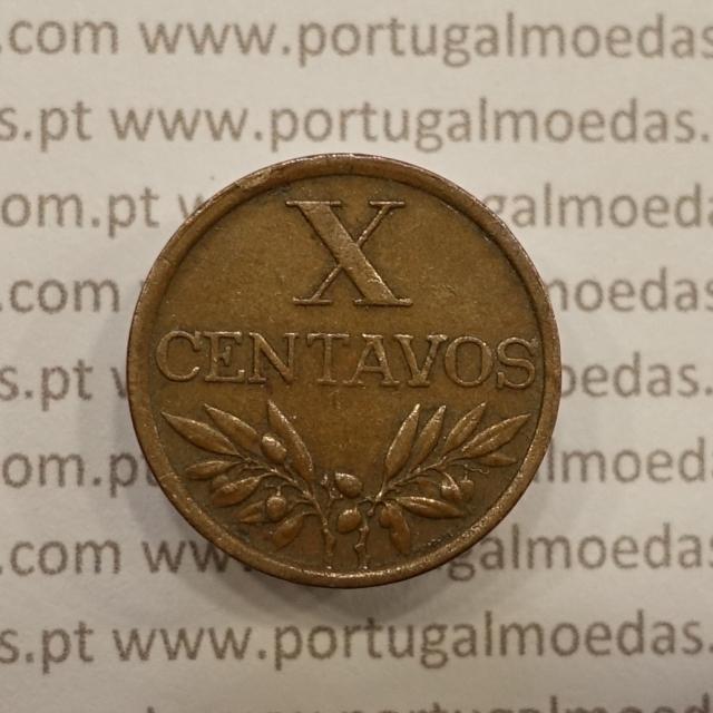 MOEDA DE DEZ CENTAVOS (X CENTAVOS) BRONZE 1969 MBC+