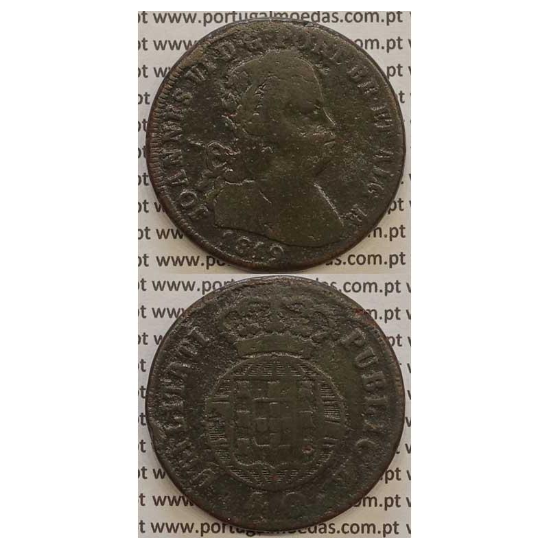 MOEDA PATACO (40 RÉIS) BRONZE 1819 (BC) LEGENDA JUNTA