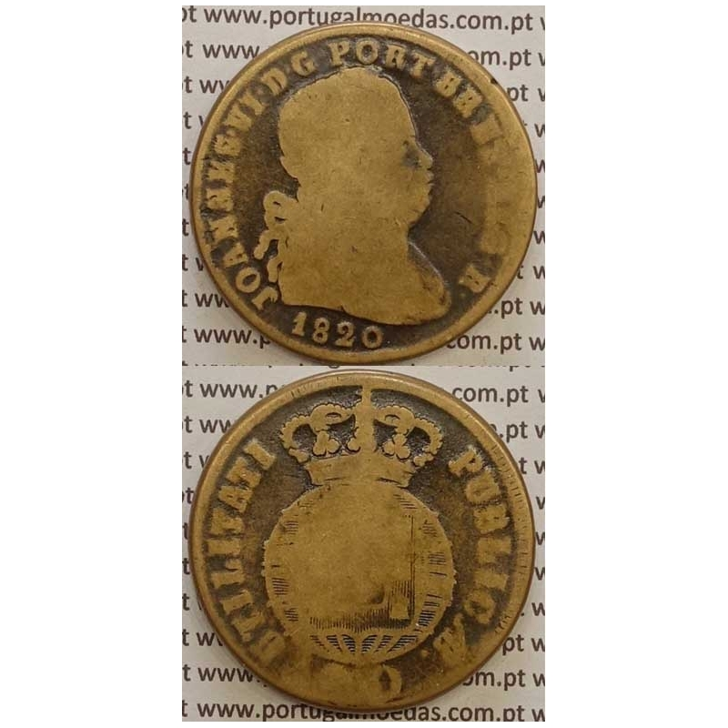MOEDA PATACO (40 RÉIS) BRONZE 1820 (BC-) LEGENDA JUNTA
