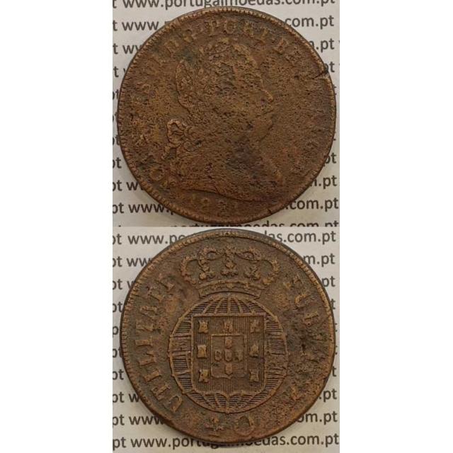 MOEDA PATACO (40 RÉIS) BRONZE 1821 (BC+) LEGENDA JUNTA