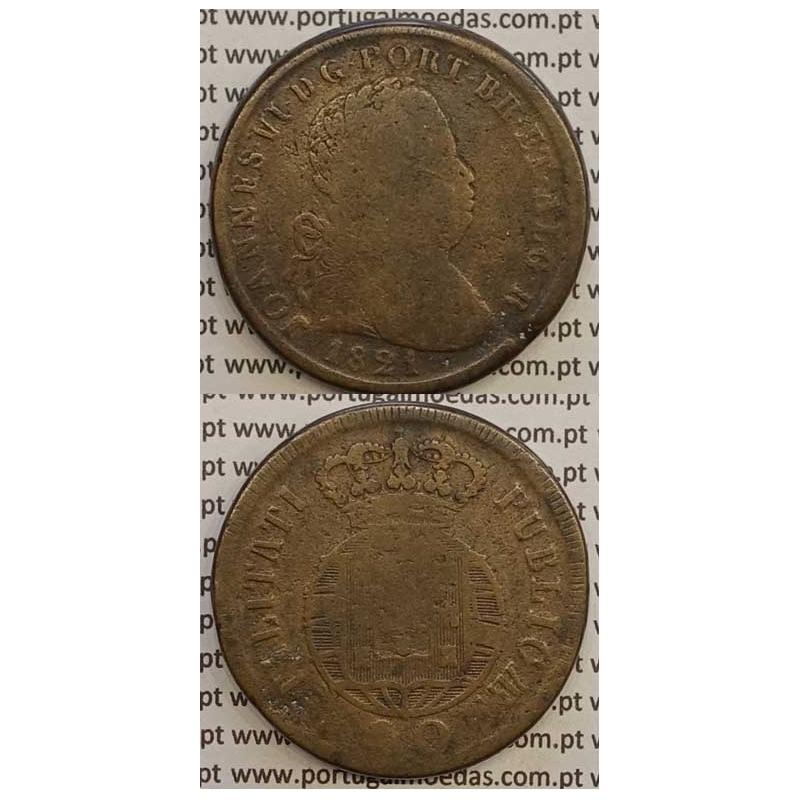 MOEDA PATACO (40 RÉIS) BRONZE 1821 (BC) LEGENDA JUNTA