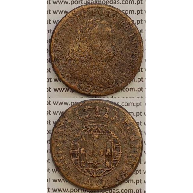 MOEDA PATACO (40 RÉIS) BRONZE 1822 (BC) LEGENDA JUNTA