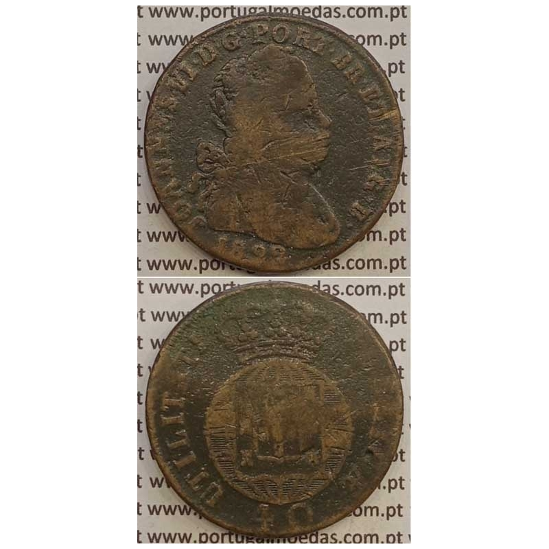 MOEDA PATACO (40 RÉIS) BRONZE 1822 (BC) LEGENDA JUNTA/CRUZ IRRADIADA