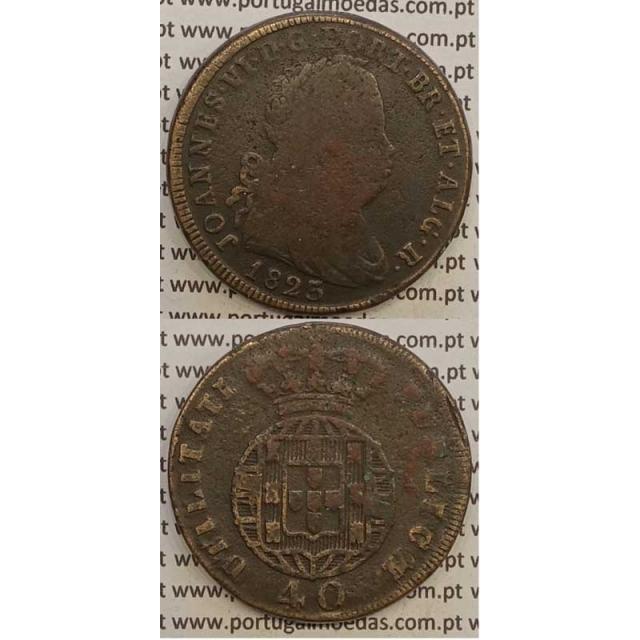 MOEDA PATACO (40 RÉIS) BRONZE 1823 (BC) LEGENDA JUNTA