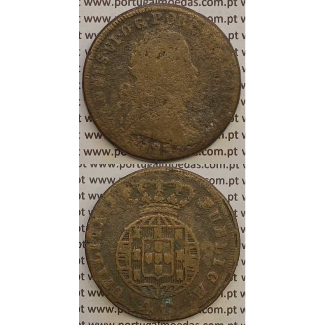 MOEDA PATACO (40 RÉIS) BRONZE 1823 (REG) LEGENDA JUNTA