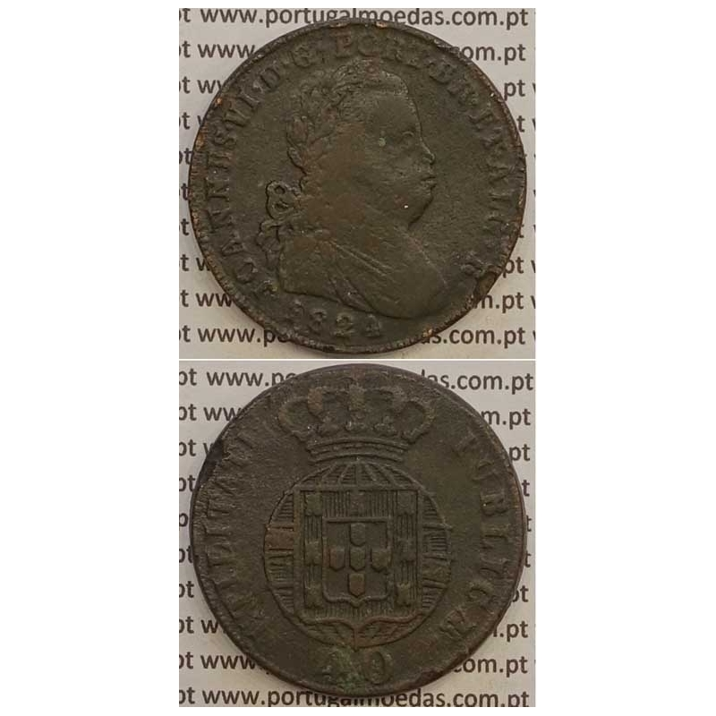 MOEDA PATACO (40 RÉIS) BRONZE 1824 (BC+) LEGENDA JUNTA