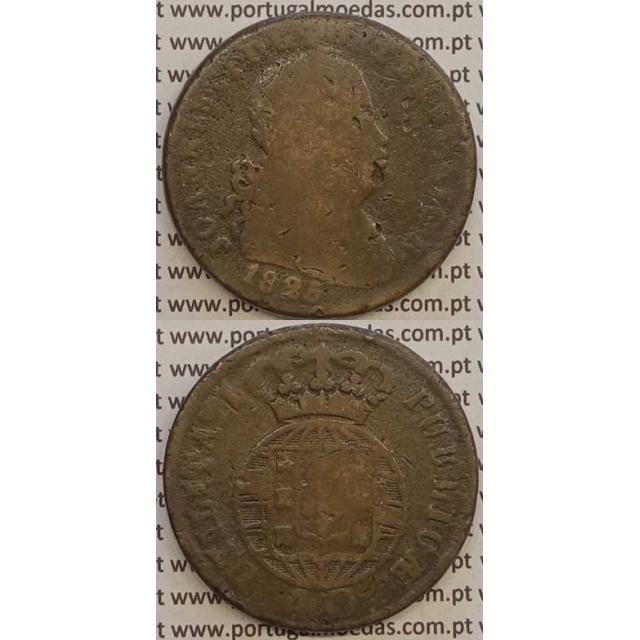 MOEDA PATACO (40 RÉIS) BRONZE 1825 (BC-/REG) LEGENDA JUNTA