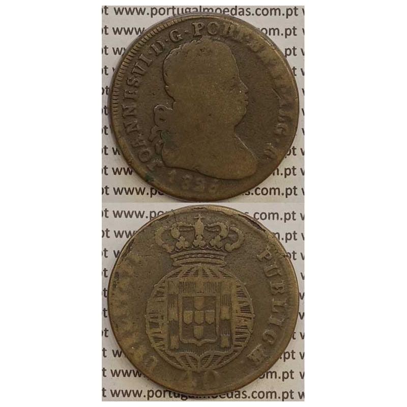 MOEDA PATACO (40 RÉIS) BRONZE 1825 (BC) LEGENDA JUNTA