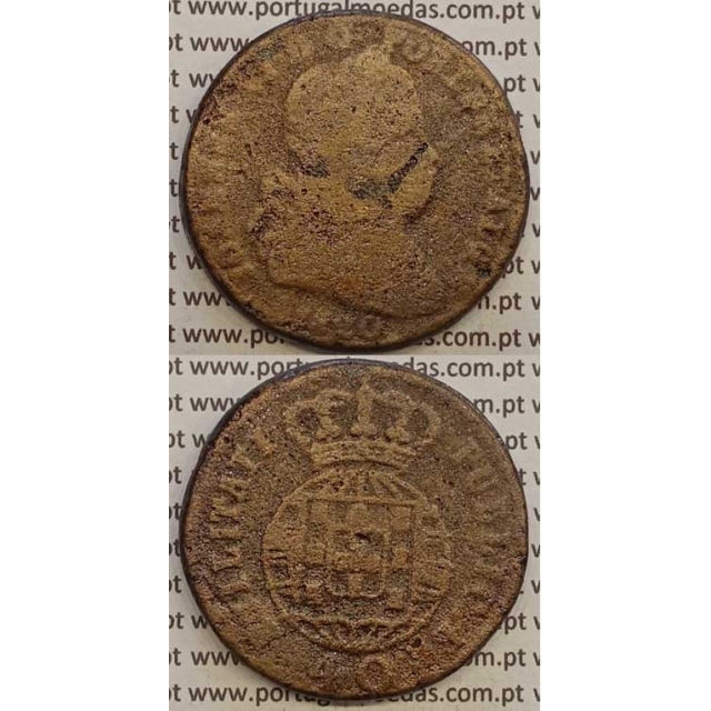 MOEDA PATACO (40 RÉIS) BRONZE 1820 (BC-/REG) LEGENDA SEPARADA