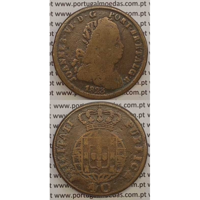MOEDA PATACO (40 RÉIS) BRONZE 1823 (BC) LEGENDA SEPARADA / LETRAS MENORES