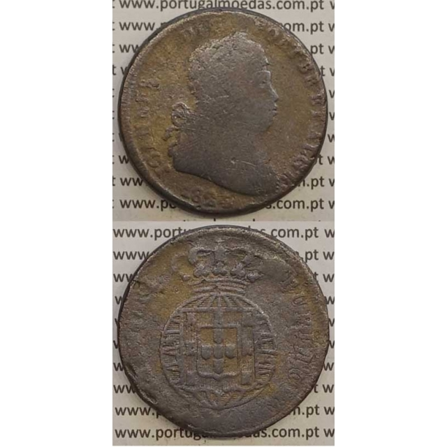 MOEDA PATACO (40 RÉIS) BRONZE 1824 (BC-) LEGENDA SEPARADA