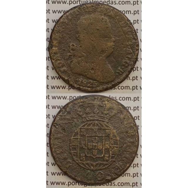 MOEDA PATACO (40 RÉIS) BRONZE 1825 (BC-) LEGENDA SEPARADA