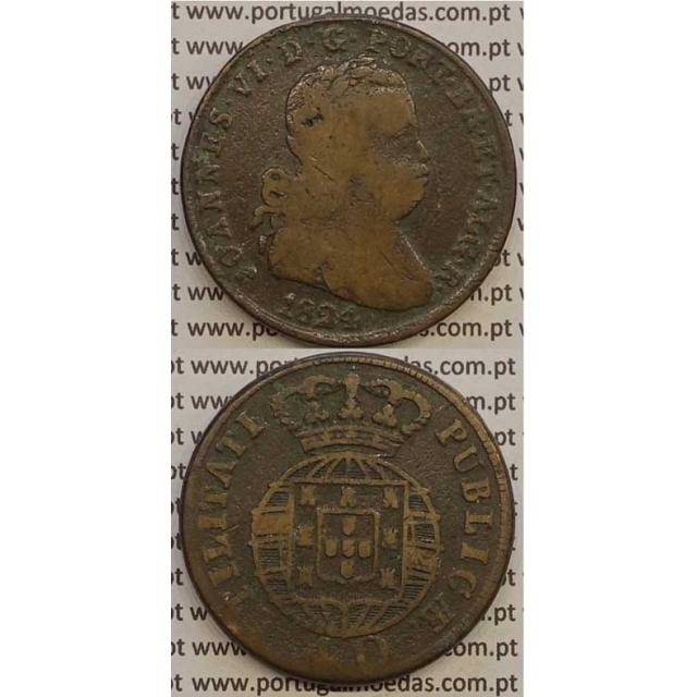 MOEDA PATACO (40 REIS) BRONZE 1824 (BC) LEGENDA JUNTA / CRUZ IRRADIADA /ESCUDO MENOR