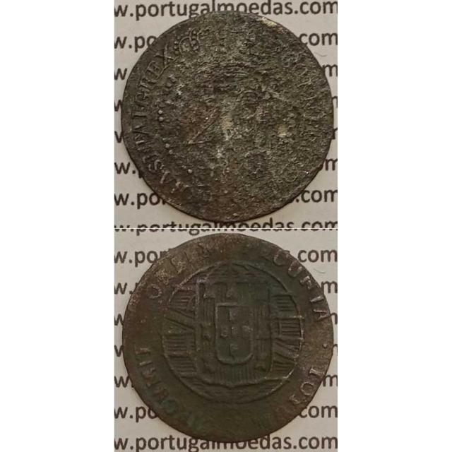MOEDA 20 RÉIS COBRE 1820 (REG) - MOÇAMBIQUE - D.JOÃO VI