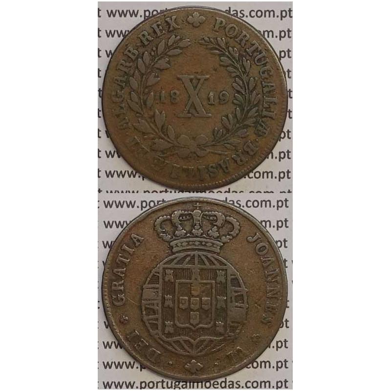MOEDA X REIS COBRE 1819 (BC+) - D.JOÃO VI