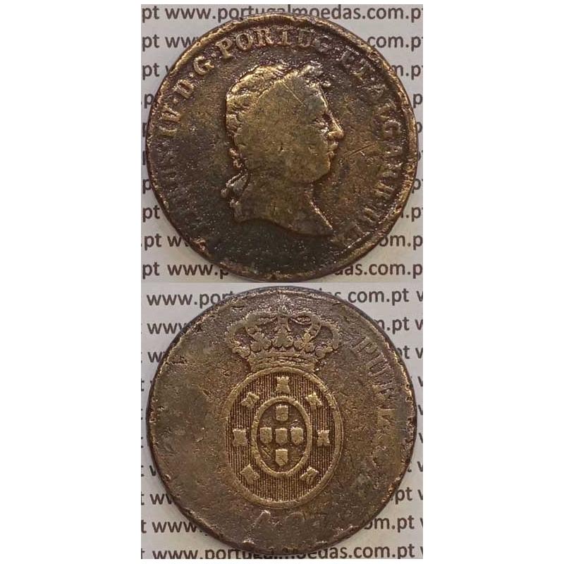 """MOEDA """"PATACO"""" 40 REIS BRONZE 1826 (BC-) DATA SEM PONTOS"""