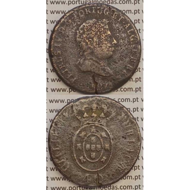 """MOEDA """"PATACO"""" 40 REIS BRONZE 1827 (BC-) DATA SEM PONTOS"""