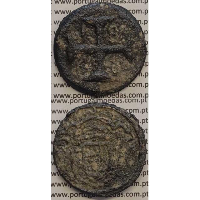 MOEDA 20 BAZARUCOS TUTENAGA 1828 (BC) - ÍNDIA - D.PEDRO IV