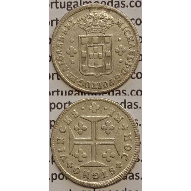 MOEDA 3 VINTÉNS PRATA 1828-1834 (MBC) - D.MIGUEL I