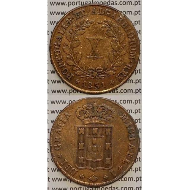 MOEDA X REIS COBRE 1831 (MBC) - D. MIGUEL I