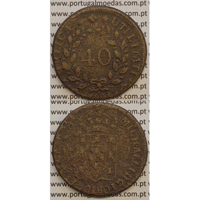MOEDA PATACO (40 RÉIS) BRONZE 1831 (BC) - DISCO FINO - D.MIGUEL I