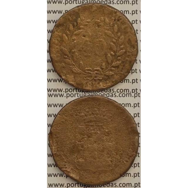 MOEDA PATACO (40 RÉIS) BRONZE 1831 (BC-/REG) - D.MIGUEL I