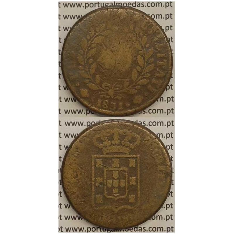 MOEDA PATACO (40 RÉIS) BRONZE 1831 (BC-) - D.MIGUEL I