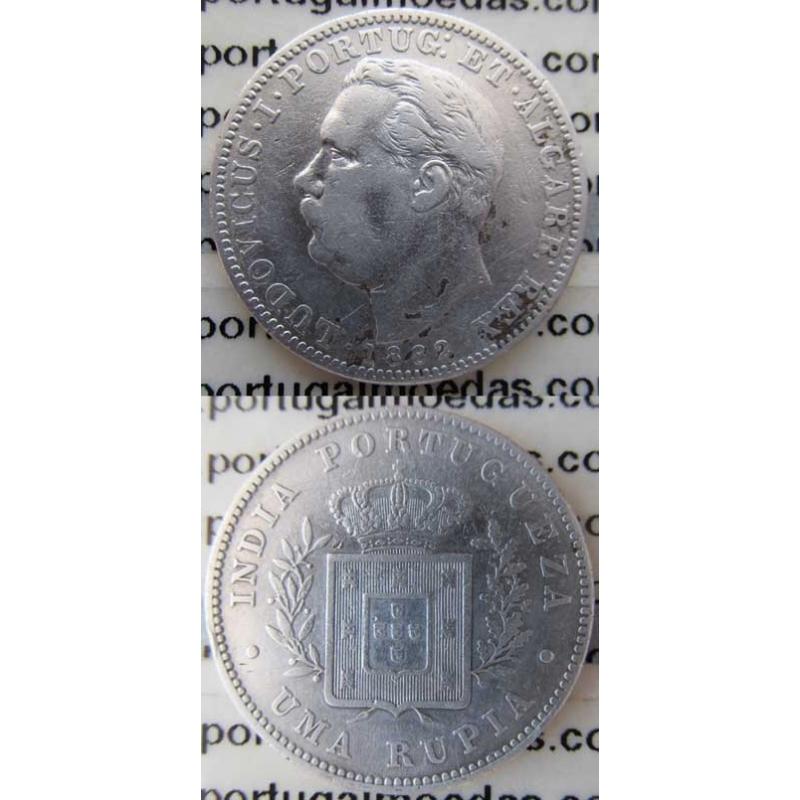 UMA RUPIA PRATA 1882 - ÍNDIA (MBC-)