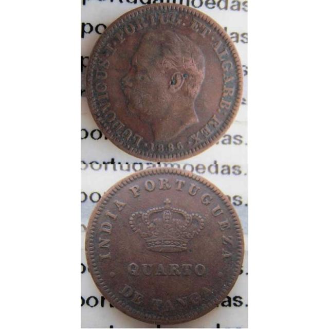 1/4 TANGA COBRE 1886 - ÍNDIA (BC+) (1886)