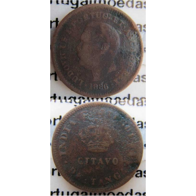 OITAVO DE TANGA COBRE 1886 - ÍNDIA (BC-)