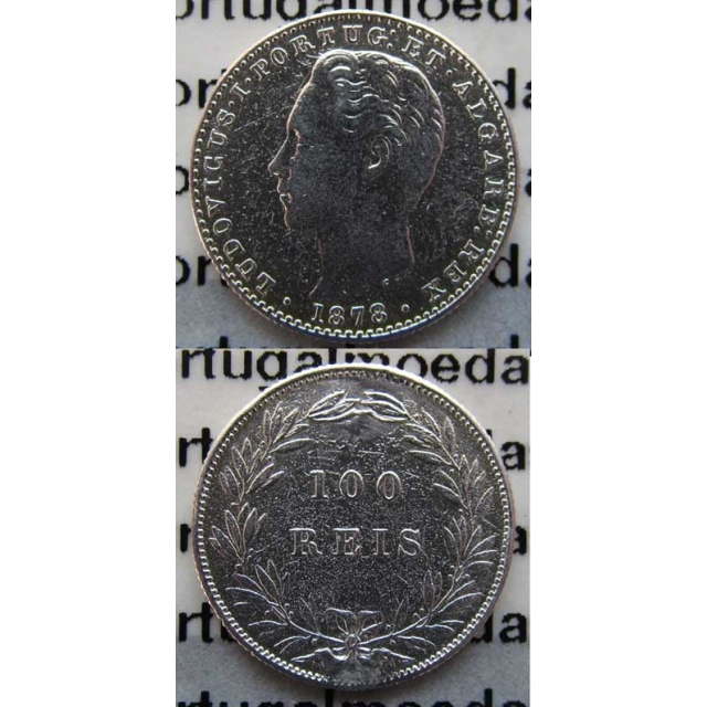 100 REIS PRATA 1878 (BC+/MBC)