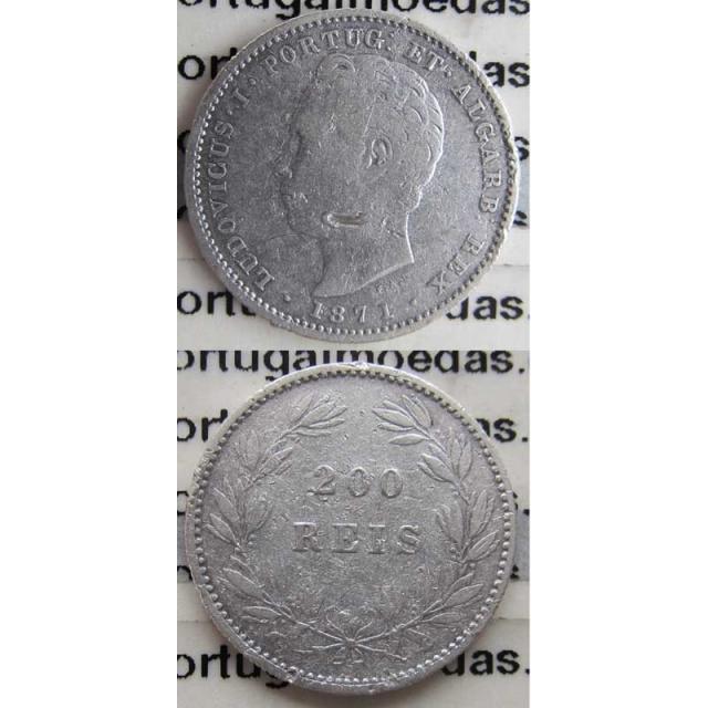 200 REIS PRATA 1871 (BC)
