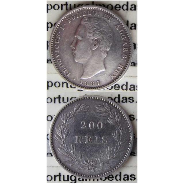 200 REIS PRATA 1887 (MBC+/BELA)