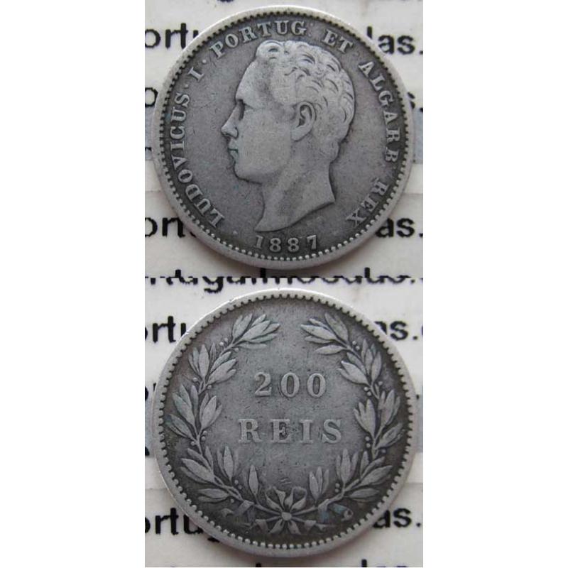 200 REIS PRATA 1887 (BC+)