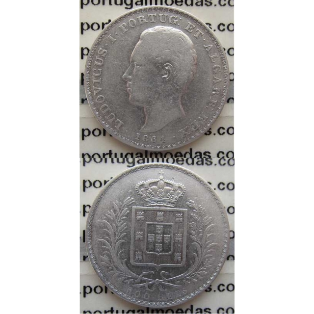 500 REIS PRATA 1864 (BC+)