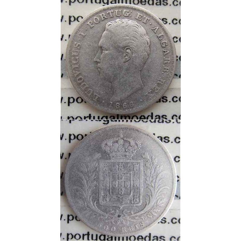 500 REIS PRATA 1866 (BC+/MBC)