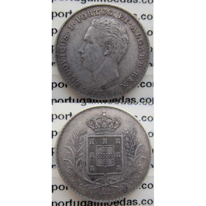 500 REIS PRATA 1870 (MBC+)