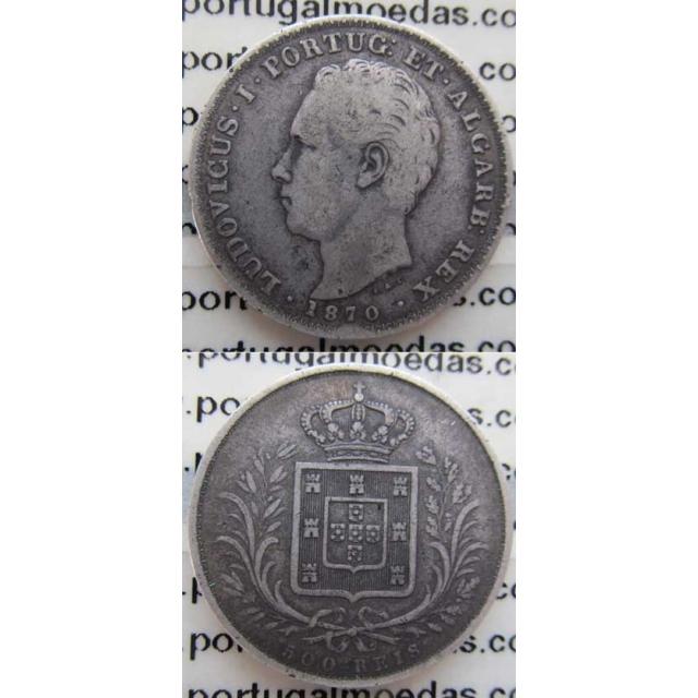 500 REIS PRATA 1870 (BC+)
