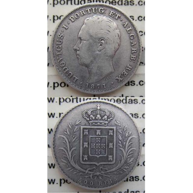 500 REIS PRATA 1871 (BC+)