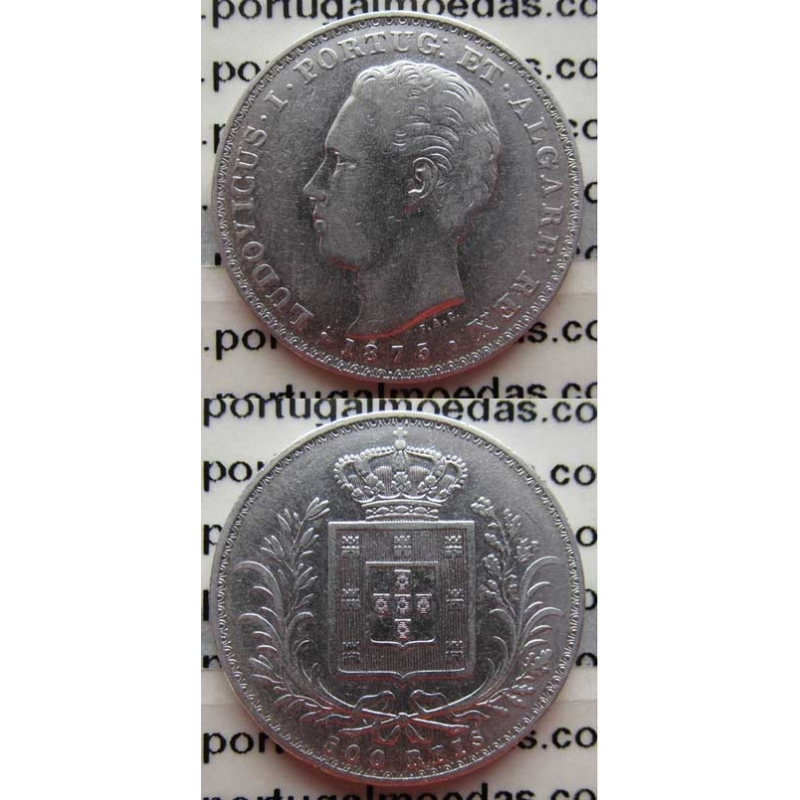 500 REIS PRATA 1875 (MBC-)