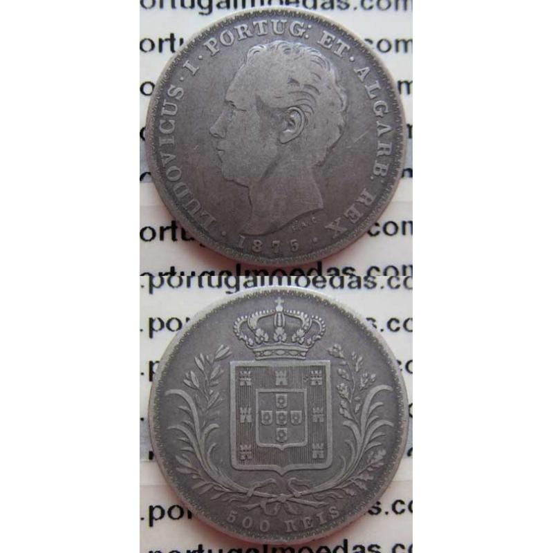 500 REIS PRATA 1875 (BC+)