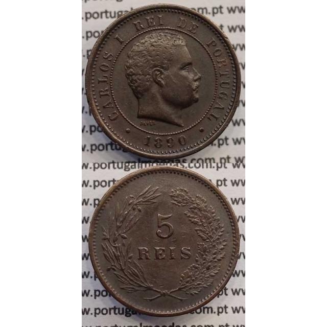 5 REIS BRONZE 1890 (MBC+) - D. CARLOS I