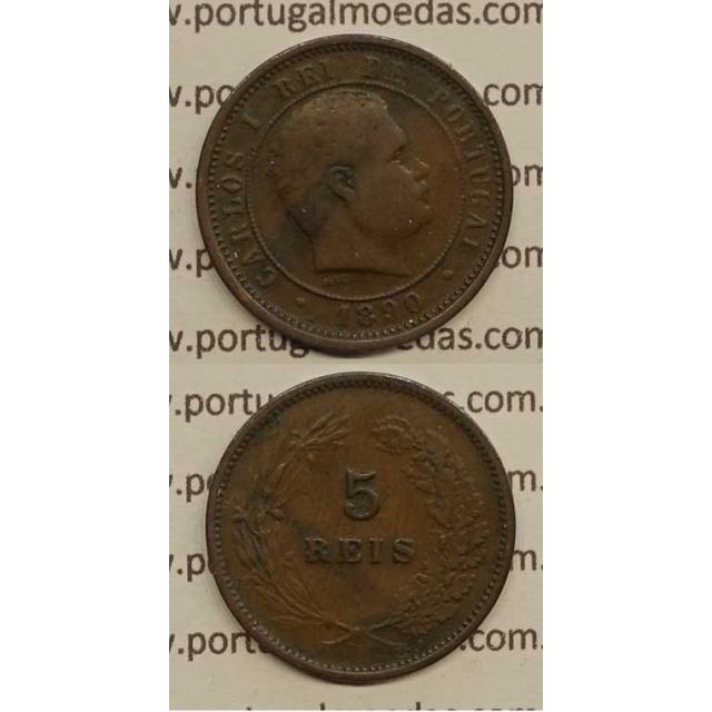 5 REIS BRONZE 1890 (MBC) - D. CARLOS I
